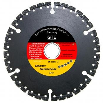 Super GTE_Diamant trennscheibe Ø 125 + 230 mm wählbar Stahl Eisen Guss  WY73